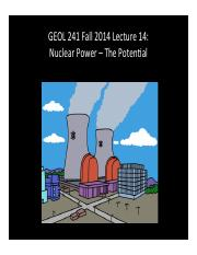 GEOL241 F2014 Lect14 -- Nuclear Principles