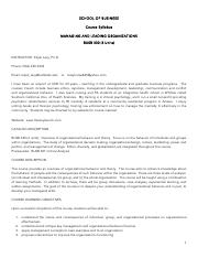 Syllabus BUSB 330 Managing  Leading Organizations August 2016