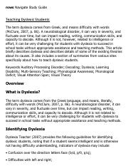 research essays on dyslexia