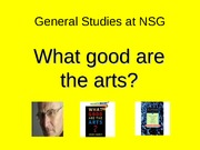 General Studies what good art(4)