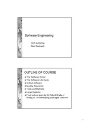 SoftwareEng1aNotes