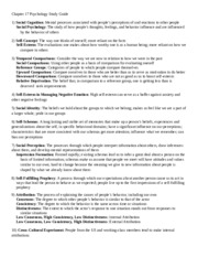 Chapter 17 Psychology Study Guide