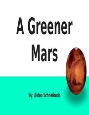 my green mars project astronomy.pptx