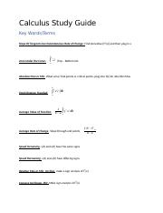 Calculus Study Guide.docx