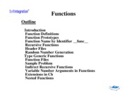 Ch. 5: Functions