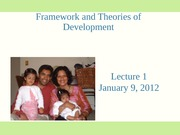 Lecture 1-Framework and Theories of Development