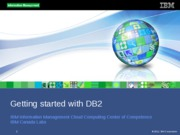 1.2 - Getting started with DB2