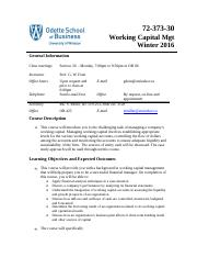 Working Capital Management Outline Winter 2016-5.docx