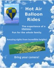 Hot Air Balloon Flyer, Your Turn Chapter 1-3