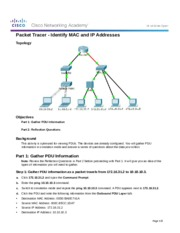 5.3.1.3 Packet Tracer - Identify MAC and IP Addresses(1)