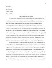 gun control works cited guns crime and dom washington dc 5 pages e2h persuasive essay first draft