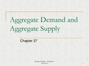 Week 12 - Aggregate Demand and Aggregate Supply (Chapter 27)