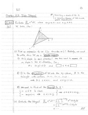 MATH 102 Spring 2015 Triple Integrals Notes