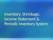6.4 Inventory Shrinkage and Periodic Inventory