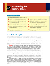 Chapter 19 Accounting for Income Taxes