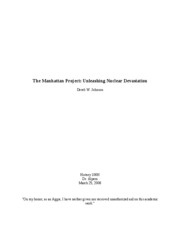 5-6Page Paper - The Manhattan Project
