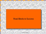 road blocks to success update