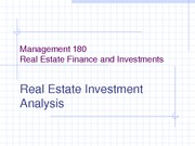 11. Management 180 RE Investment Analysis