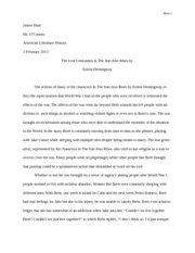 book thief essay hunt james hunt mr oconnor american 5 pages sun also rises essay