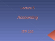 Lecture 5 - Accounting