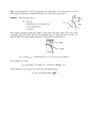 Forces on Curved Surfaces Problem Set