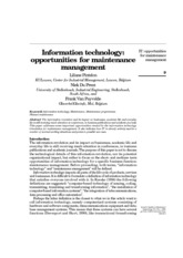 Information technology_opportunities for maintenance management