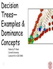 CEE 5980 Lec 8  Decision Trees Examples (Instructor)