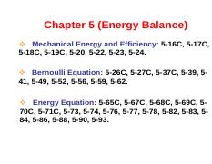 Chapter 5 Problems (Energy Balance)