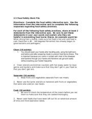 2 5 food safety work file 2 essay