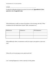 PRELAB WORKSHEETS FOR POST OP,                   COPD, CHF.docx