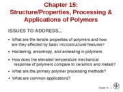 2010-03-24 Chapter 15 Polymer Applications and Processing