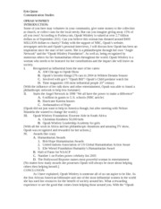 informative speech outline for oprah winfrey 2012-6-13 check out our top free essays on reality tv phenomenon informative speech to help  2015 oprah winfrey is a person  informative speech outline:.