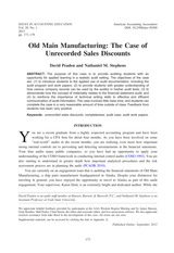 Old Main Manufacturing Case