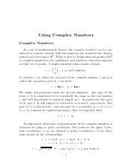 9-27-12_Complex Numbers and Arithmetic
