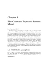 constant expected return model Lecture notes.pdf