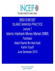 IB5013 LN 7 ISLAMIC INTERBANK  MONEY MARKET.pdf