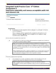 oceanview marine company audit workpaper 2 2 Oceanview assignment 1 - discussion questions operations pertaining to oceanview marine company 2 audit the financial statements of oceanview.