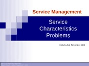 Service Management-related to Ch.1