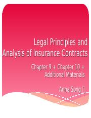 Lecture10_ch9_ch10_Legal Principles and Analysis of Insurance Contracts