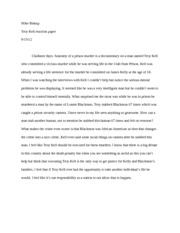 Troy Kell reaction Paper