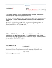 Physics 325 Spring 2011 Homework 5