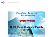 FoBA_FS2015_08-09_Reflection_Value Chain-Facility Layout