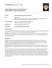 JobSpec_M4L_projectmanager_Oct17.pdf