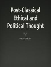 Post Classical Thought 302A.pptx