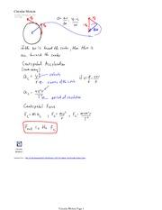 PHYS 12 Circulation Motion Lesson 1 Notes