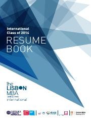 TheLisbonMBA_ResumeBook_InternationalClass2014