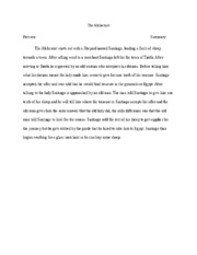the alchemist lander part the alchemist part two summary the  3 pages the alchemist lander