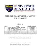 Quantitative analysis (group 4)