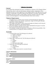 Volunteer Agreement