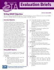 Writing SMART Objectives